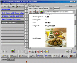 Recipe Organizer Deluxe Screenshot