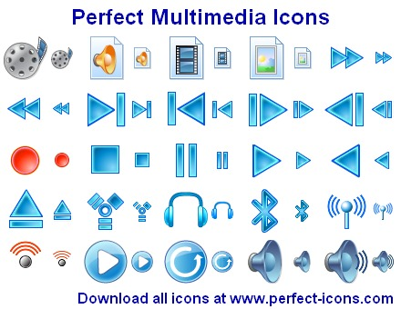 Perfect Multimedia Icons Screenshot