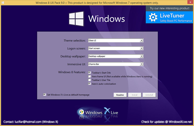 Windows 8 UX Pack Screenshot