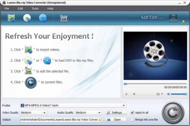 Leawo Blu-ray Video Converter Screenshot 2