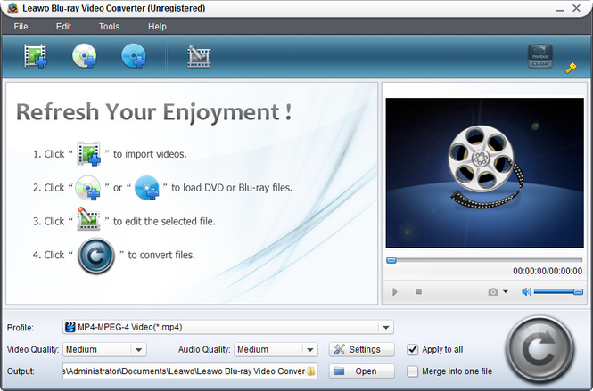 Leawo Blu-ray Video Converter Screenshot 1