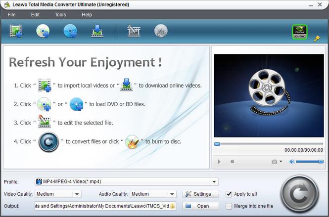 Leawo Total Media Converter Ultimate Screenshot 1