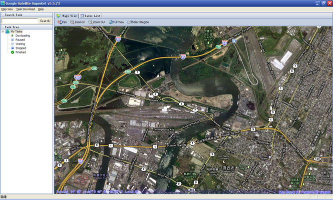 Google Satellite SuperGet Screenshot