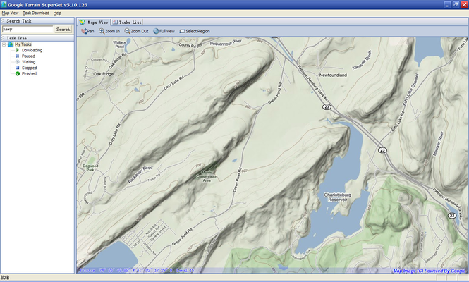 Google Terrain Superget Screenshot