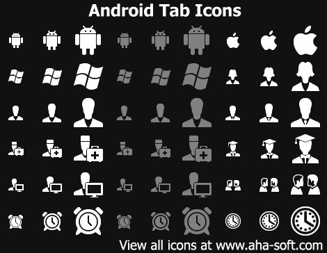 Android Tab Icons Screenshot 1