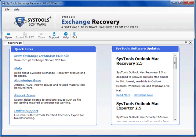 Recover EDB to PST Screenshot