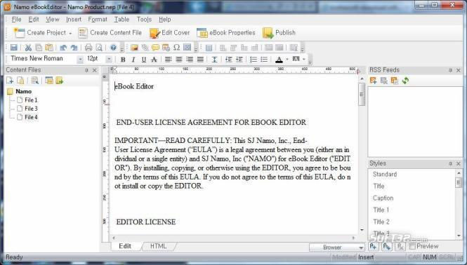 Namo eBookEditor Screenshot 2