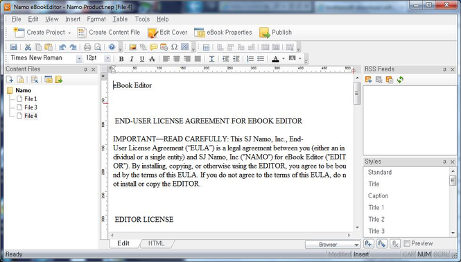 Namo eBookEditor Screenshot