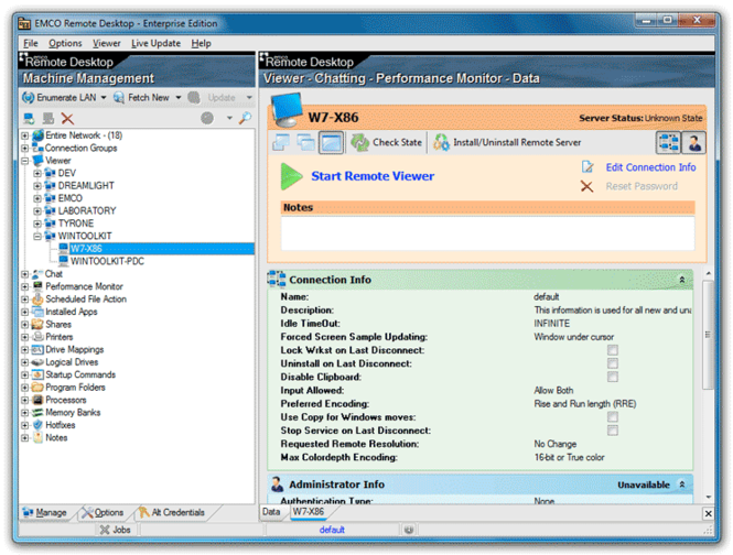 EMCO Remote Desktop Enterprise Screenshot