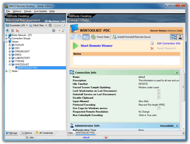 EMCO Remote Desktop Starter Screenshot