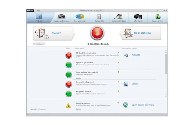 MAGIX PC Check & Tuning Screenshot 1