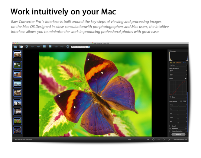 Raw Converter Pro Screenshot