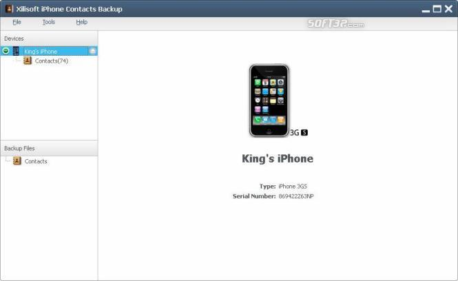 Xilisoft iPhone Contacts Backup Screenshot 2
