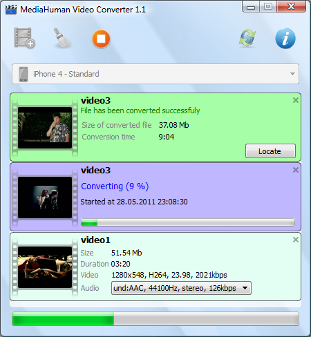 MediaHuman Video Converter Screenshot 1