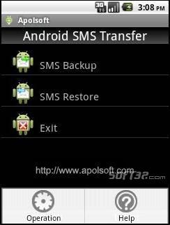 Apolsoft Android SMS Transfer Screenshot 2