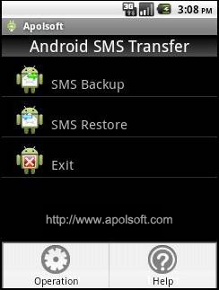 Apolsoft Android SMS Transfer Screenshot 1