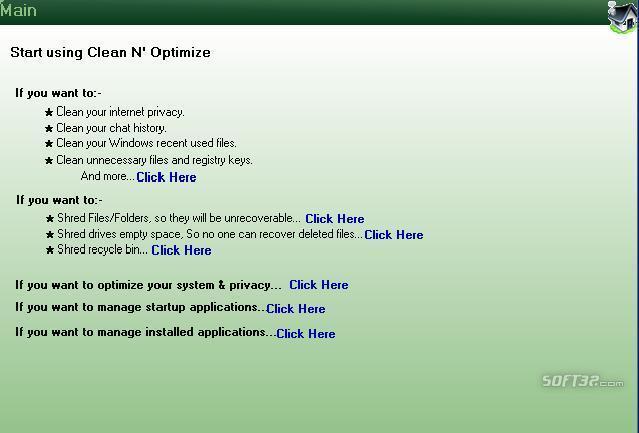 Power System Cleaner Optimizer Screenshot 2