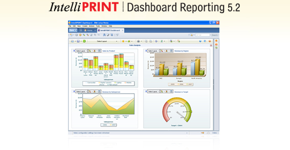 IntelliPRINT Dashboard Reporting Screenshot
