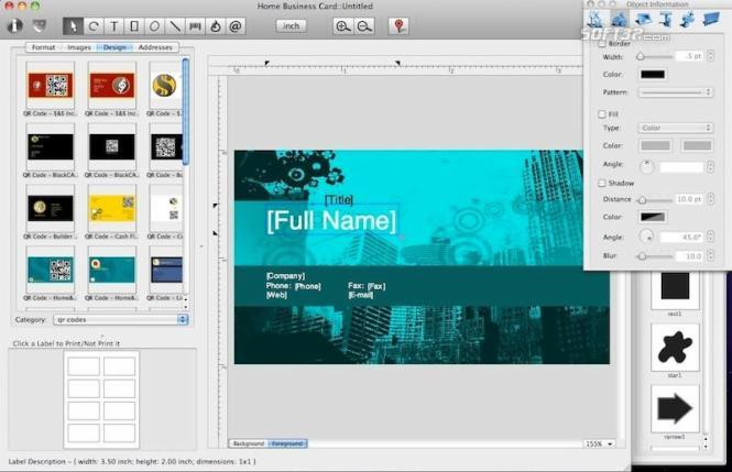 Home Business Card for Mac Screenshot 2