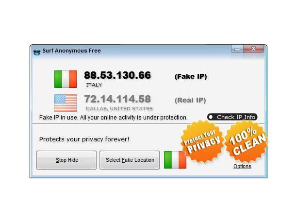 Surf Anonymous Free Screenshot