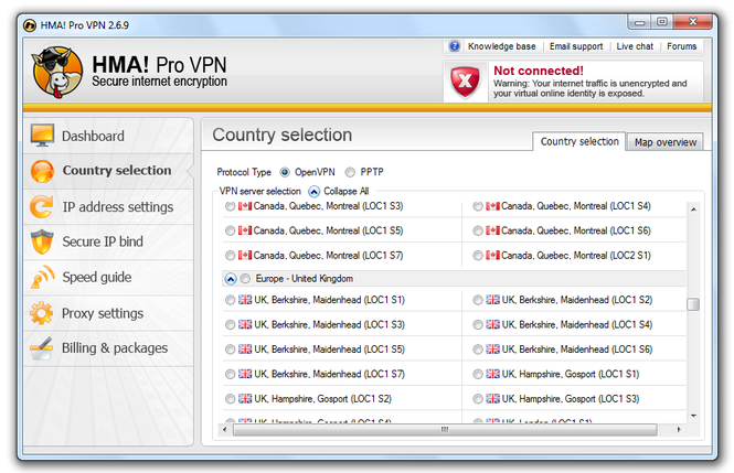 HMA! Pro VPN Screenshot 3