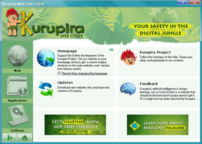 Kurupira Web Filter and Parental Control Screenshot 1