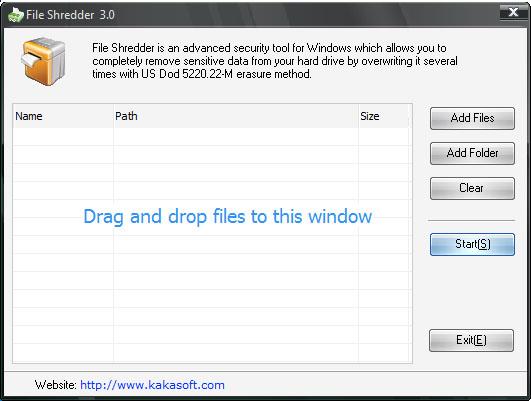 KaKa File Shredder Screenshot 1