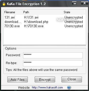 KaKa File Encryption Screenshot 2
