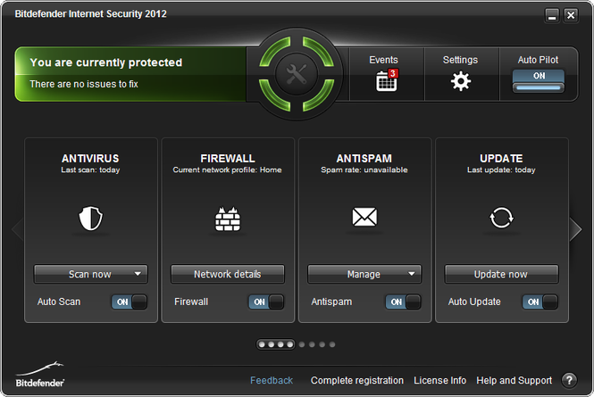 Bitdefender Internet Security 2017 Screenshot