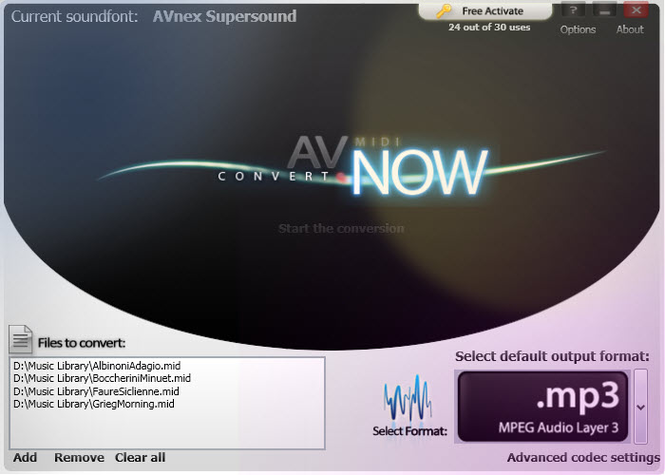 AV MIDI Converter Screenshot