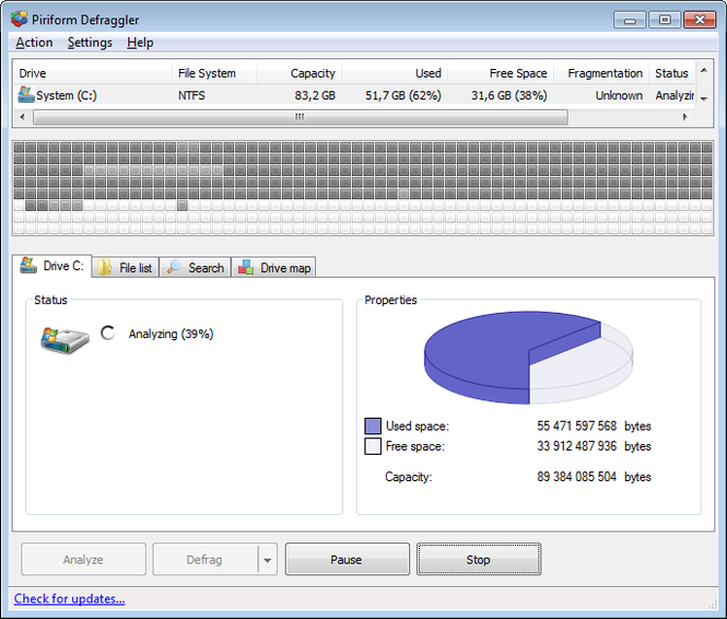 Defraggler Screenshot 1