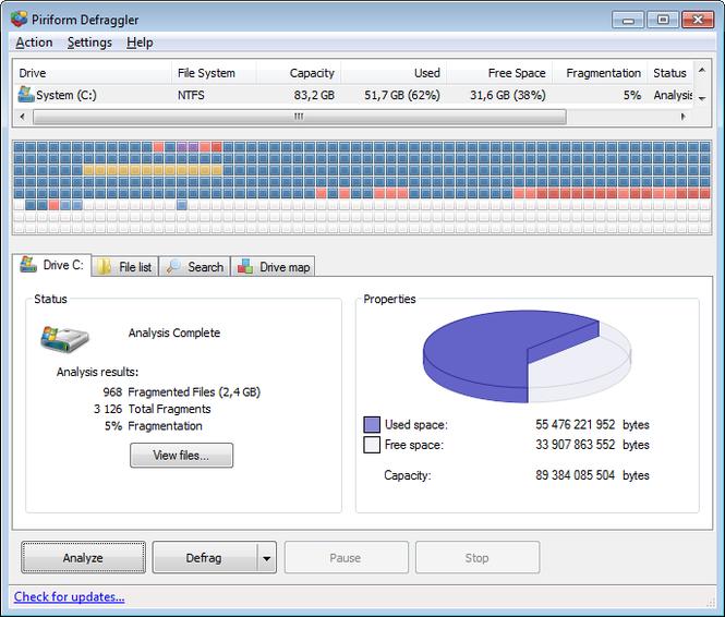 Defraggler Screenshot 2