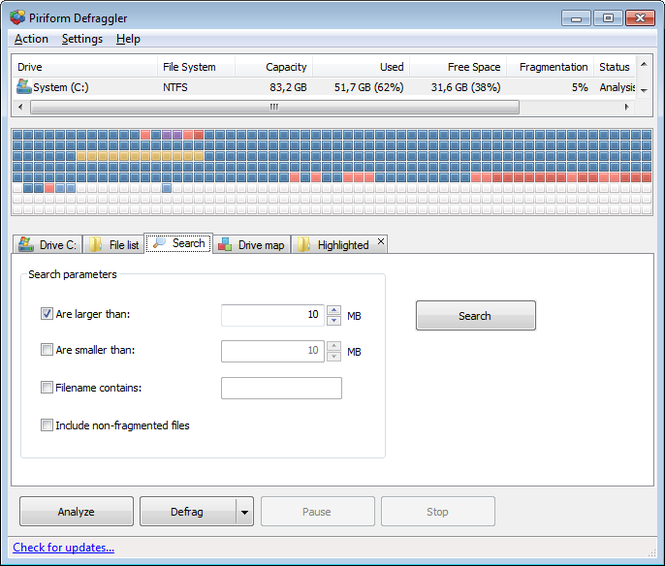 Defraggler Screenshot 4
