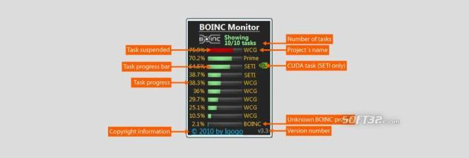 BOINC Monitor Screenshot 2