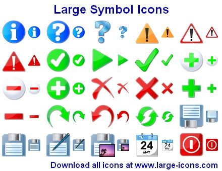 Large Symbol Icons Screenshot
