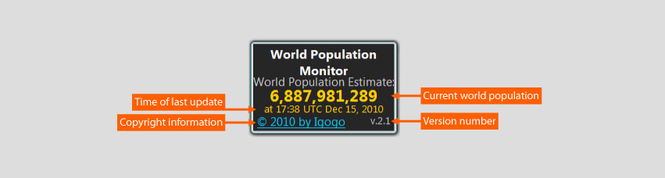 World Population Monitor Screenshot 2