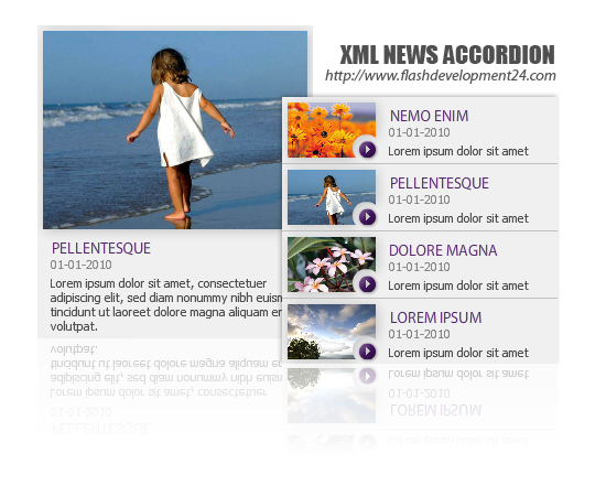 XML News Accordion DW Extension Screenshot