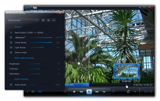 Splash PRO - HD video player Screenshot 1
