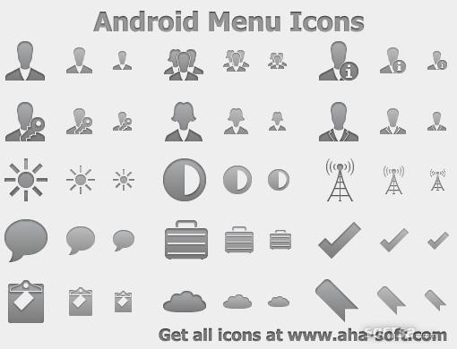 Android Menu Icons Screenshot 2