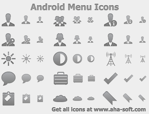 Android Menu Icons Screenshot 1