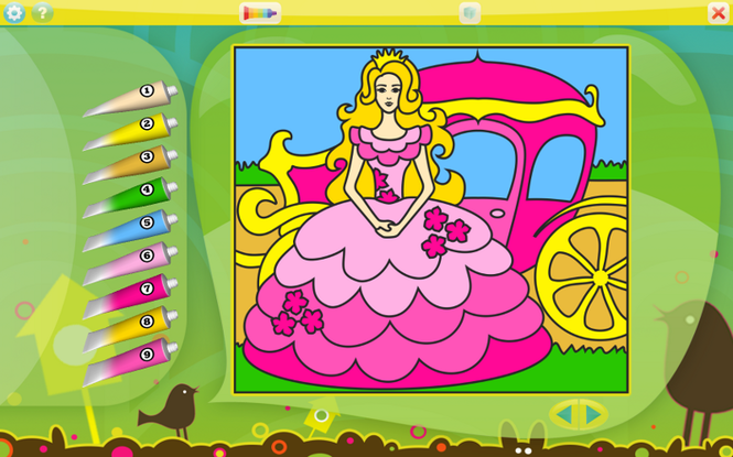 Color by Numbers - Princesses Screenshot 1