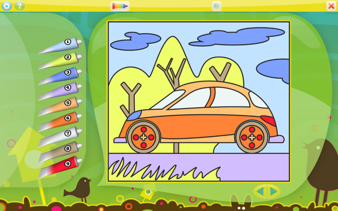 Color by Numbers - Vehicles for Mac Screenshot 1