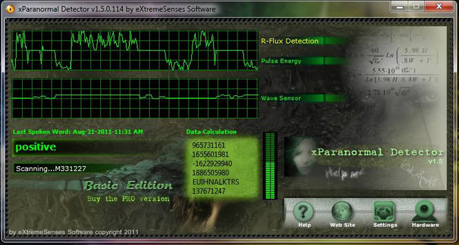 XParanormal Detector Screenshot