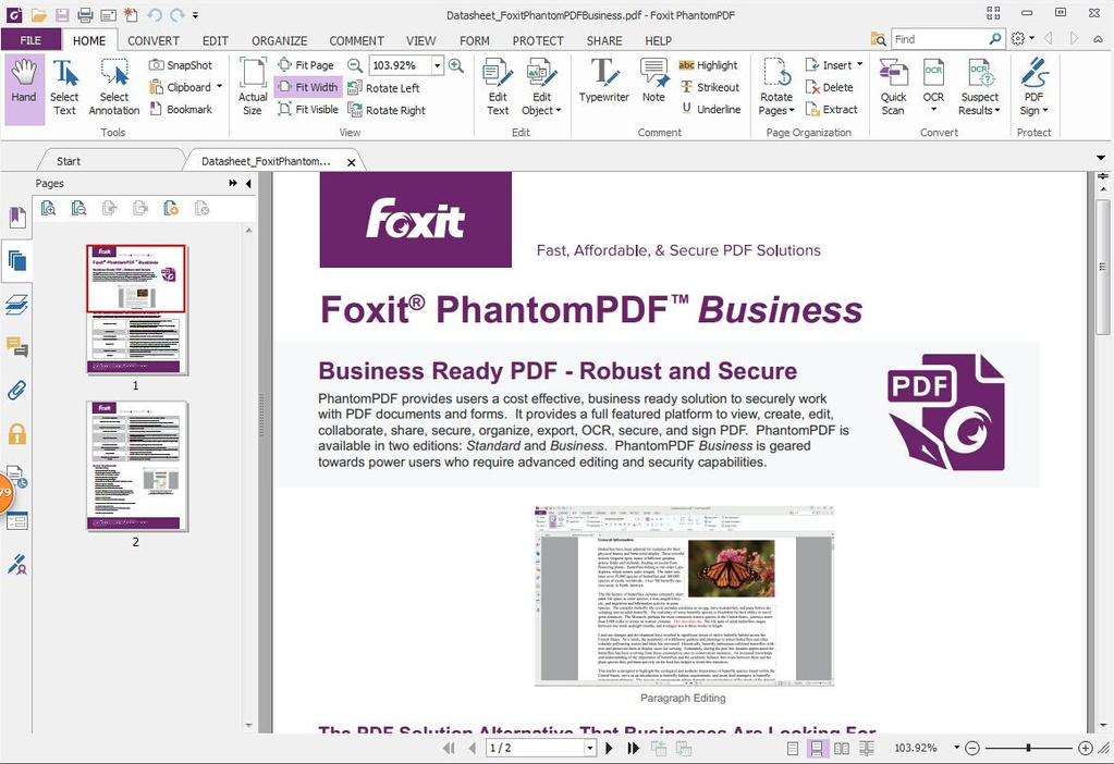 Foxit PhantomPDF Business Screenshot