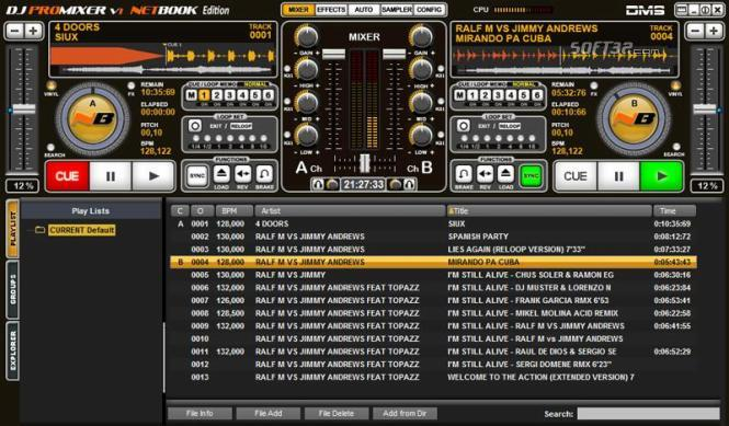 DJ ProMixer NB Netbook Edition Screenshot 2