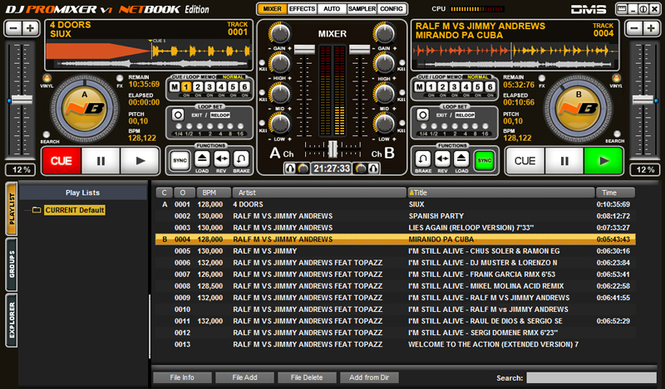 DJ ProMixer NB Netbook Edition Screenshot 1