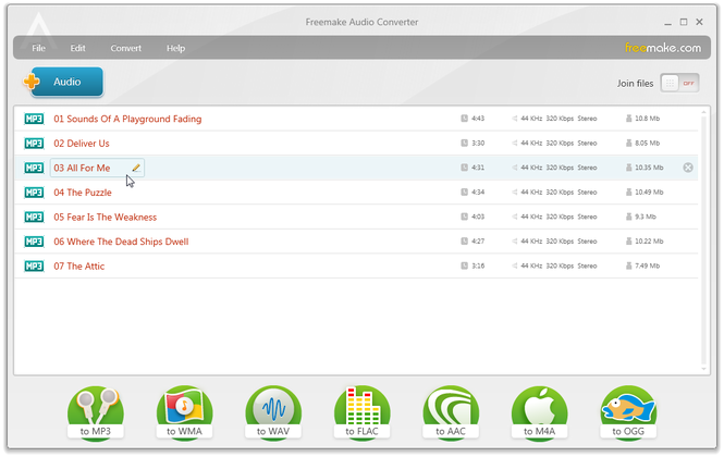 Freemake Audio Converter Screenshot 1