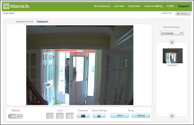 iWatchLife WebCamera Screenshot