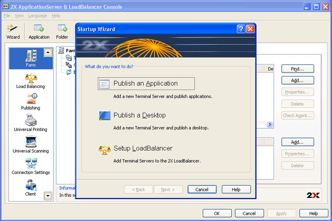 2X ApplicationServer XG Screenshot
