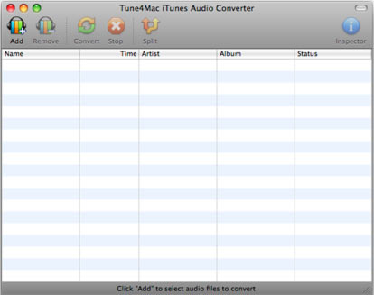 Tune4Mac iTunes Audio Converter Screenshot 1